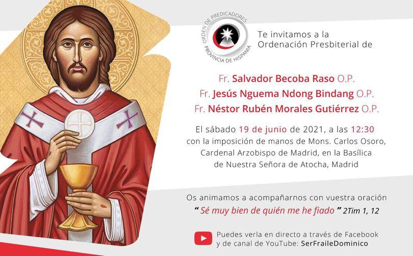 ordenacion presbiteral jesus salvador nestor invitacion