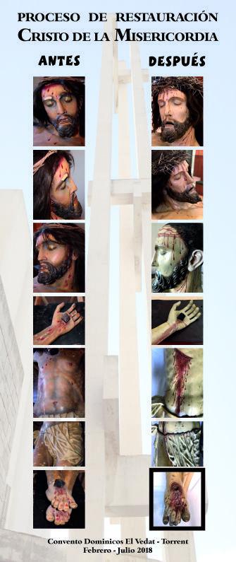 Restauración talla Cristo El Vedat