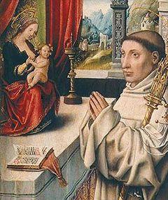 San Bernardo de Claraval y el rosario
